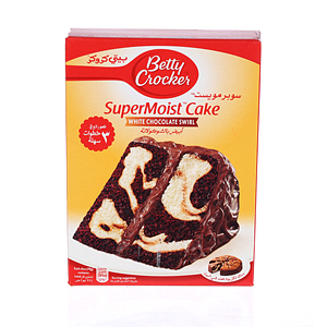 Betty Crocker Supermoist Cake White Chocolate Swirl 500gm