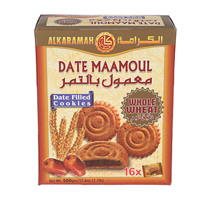 Al Karamah Date Maamoul Whole Wheat 500gm × 16'S