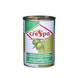 Crespo Salted green Olives Tins 225gm