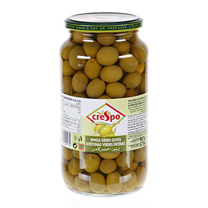Crespo Whole Green Olives Jar 575gm