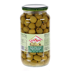 Crespo Pitted Green Olives Jar 440gm