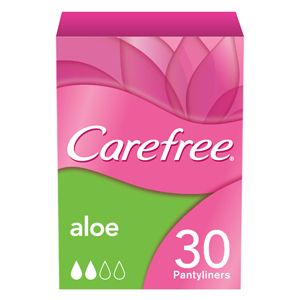 Careefree Aloe Scented Pads  30'S