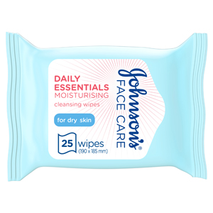 Johnson's Face Care Daily Essentials for Dry Skin 25Wipes