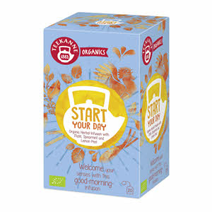 Teekanne Organic Start Your Day Tea 1.8gm × 20 Tea Bags