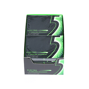 Wrigley's 5 Electro Spearmint Chewing Gum 31.2gm × 10'S