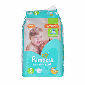 Pampers Baby Dry No.5 Carry Pack 14 Diaper
