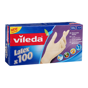 Vileda Latex Dispsble Glove 100'S