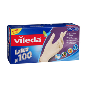 Vileda Latex Multi Proposes Disposable Glove 100'S