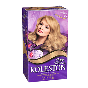 Wella Koleston Hair Color Cream Light Blonde 8/0