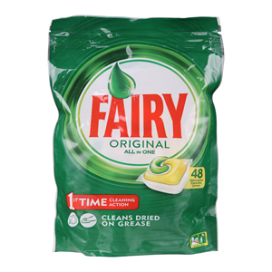Fairy Yellow Dishwash Tablets 48'S
