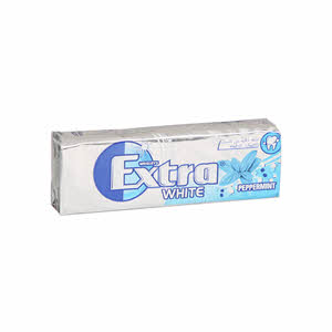Wrigleys Extra White Peppermint Chewing Gum 10'S