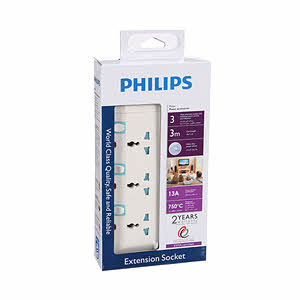Philips 3 Way Electrical  Extension 3M