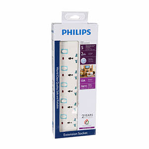 Philips 5 Way Extension 2M