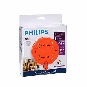 Philips 4 Way Cable Reel 5M Cord Length