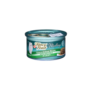 Fancy Feast Purina Medley Tuna & Shrimp Recipe 3Oz