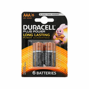 Duracell Duracell Plus Power Aaa 6