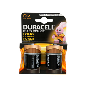 Duracell Plus Power D 2