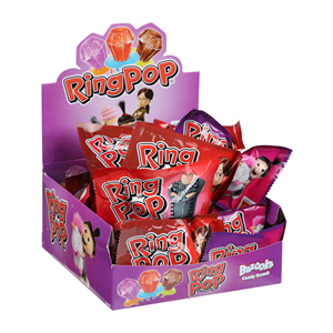 Bazooka Ring Pop Strawberry Cola Candy 10gm