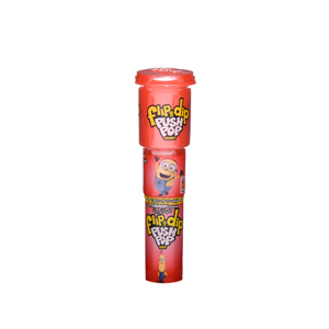 Bazooka Push Pop Candy Fip & Dip Strawberry 25gm