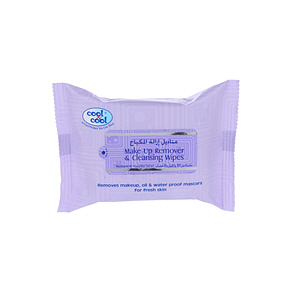 Cool & Cool Makeup Remover Tissues 25 Wipes