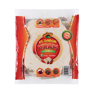 El Sabor Wrap Tortillas 8Inch 346gm ×  8'S