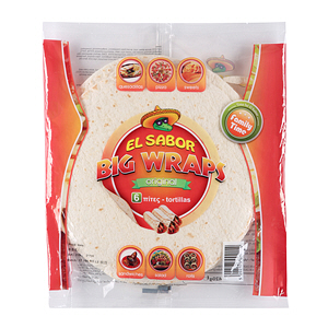 El Sabor Big Wrap Tortillas 10Inch 420gm × 6'S