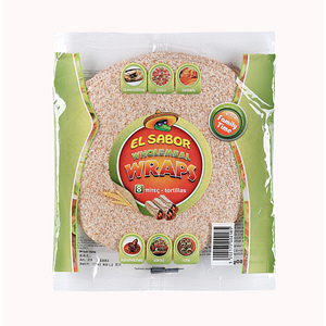 El Sabor Whole Meal Wraps 360gm