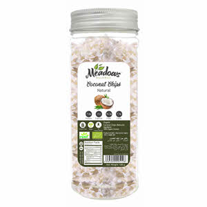 Meadows Organic Coconut Chips Natural 100gm