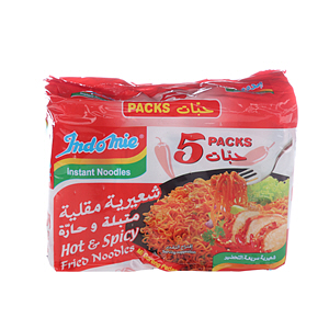 Indomie Noodles Hot Fried Flavor 75gm×5'S