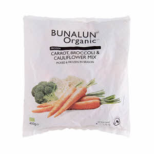 Bunalun Organic Mixed Vegetables 450gm