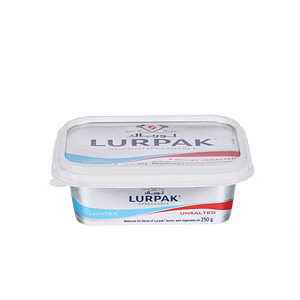 Lurpak Butter Spreadable Light Unsalted 250gm