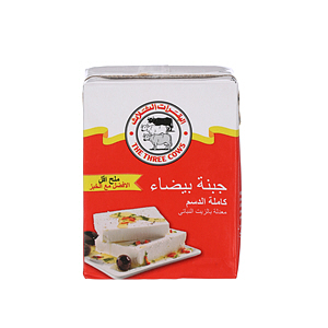 The Three Cows White Cheese Bricks Low Salt Red 200gm