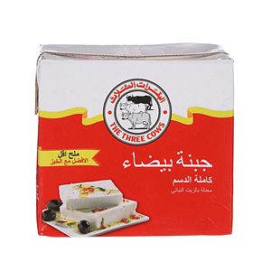 The Three Cows White Cheese Bricks Low Salt Red 500gm