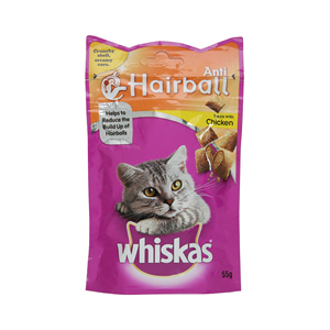 Whiskas Anti Hairball Cat Treats with Chicken 55gm