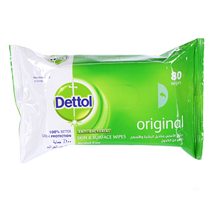 Dettol Antibacterial Wipes 80 Wipes