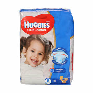 Huggies Superflex Baby Dipers Size 6 32'S