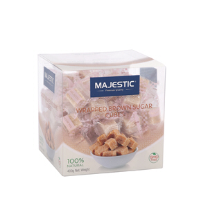 Majestic Wrapped Brown Sugar Cube 400gm