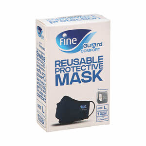Fine Guard Comfort Adult Face Mask with virus-killing Livinguard Technology Large