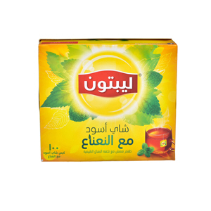 Lipton Yellow Tea Mint Lipton Bag 100'S