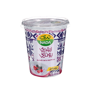 Nada Greek Flavoured Youghurt Black Berry& Raspberry Full Cream 360gm