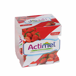 Al Safi Danone Actimel Strawberry 4 X 93Ml