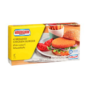Americana Breded Chicken Burgers 226gm × 4'S
