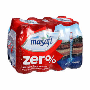Masafi Water Zero Sodium 330Ml