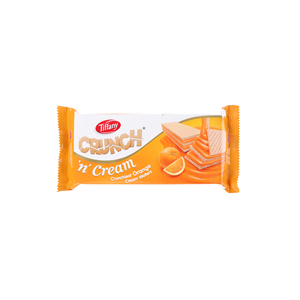 Tiffany Crunch 'N' Cream Wafer Orange 76gm