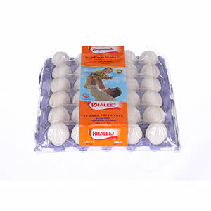 Khaleej White Eggs Large 30S