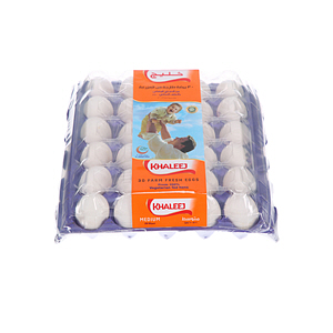 Khaleej White Eggs Medium 30'S
