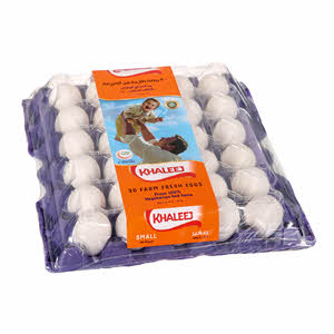 Khaleej Fresh White Egg Small 30'S