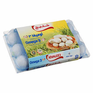 Khaleej Egg Omega 3 15eggs