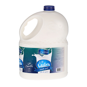 Al Rawabi Fresh Milk Full Cream 3Ltr