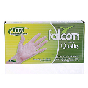 Falcon Vinyl Gloves Small 100'S